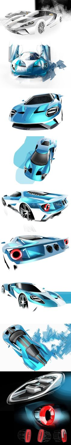 시각적이다 Ford GT Design :::