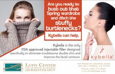 Ready to have that double chin melt away? Contact 504-777-3047 today to learn more about #Kybella. #DrLupo #NewOrleans #BestDermatologist