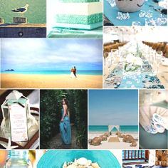 I saved this for the pics in the bottles and sea glass on tables