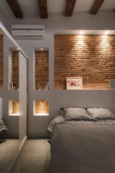 Design Your Bedroom Layout . Design Your Bedroom Layout . In the Bedroom soft Panels are Often Used Instead Of the Basement Master Bedroom, Brick Wall Bedroom, Basement Guest Rooms, Bedroom Wall Designs, Design Your Bedroom, Guest Bedrooms, Home Bedroom, Modern Bedroom, Bedroom Ideas