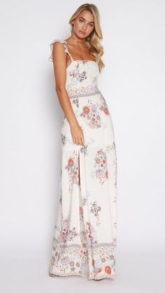 bcb3b1ed4e ASOS Beach Mesh Embroidered Panel Maxi Dress with Peplum Hem