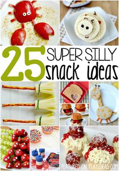 Make mealtime fun with these 25 kid friendly food ideas! Fun snack recipes for school lunches too!