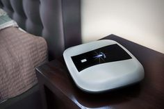 Gun Box, finger print accessible gun safe with usb charging capability for night stand storage.