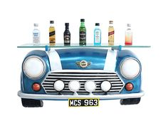 Glass Shelves, Wall Shelves, Blue Mini Cooper, Cooper Car, Ship Wheel, Wine Bottle Holders, Wall Decor, Antiques, Pictures