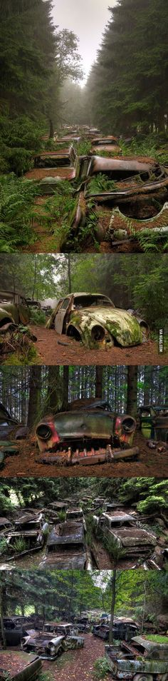 Ardense Châtillon Belgium, http://www.dailymail.co.uk/news/article-2256470/Haunting-pictures-Belgian-car-graveyard-US-soldiers-hid-beautiful-vintage-motors-WWII.html