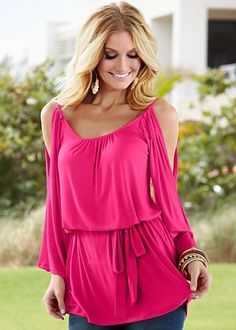 Cold shoulder peasant top $20.00 today only at Venus