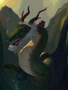 Chinese folk dragon by Aromartic.deviantart.com on @DeviantArt