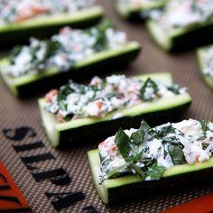 Creamy cheesy 25-calorie zucchini boats