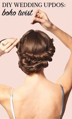 DIY Wedding Updos | Martha Stewart Weddings - Its twists and curls may look pro-level complicated, but this intricate updo is surprisingly simple to create. Click through for all of the how-to steps.
