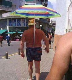 Hands-Free Umbrella!