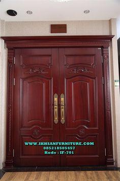 Pintu Mewah Ukir Kayu Jati Terbaru
