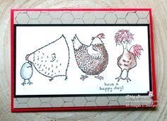 Freshly Brewqed Blog Hop using Watercolor Pencils - Hey Chick (SAB stamp set). Video tutorial on how to get chicken wire effect. Watercolor Pencils