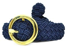 Sassy and coolthese hip belts for women willhug your hipsandshow off your body.  I love theboldandflashy Egyptian beltsas theymake dresses really stand out.  Lauren Ralph Lauren Braided Belt Navy Med