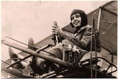 """Helene Dutrieu of Belgium was known as the """"girl hawk"""" of aviation because she was the most daring and accomplished woman pilot of her time. She first soloed in France in 1909 and within a year was setting altitude and distance records."""