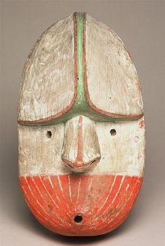 Masque Kugukuak, Archipel de Kodiak, Alaska, collecté en 1871/2 par Alphonse Pinart (1852-1911)
