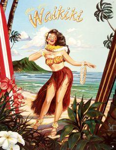Likely... The Vintage hawaiian hula girl art situation