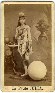 "Circus acrobat ""La Petite Julia"" carte de visite c. 1885"