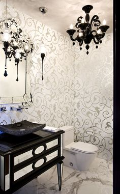 Powder Room. Bathroom by Renata Pfuner on http://roomreveal.com