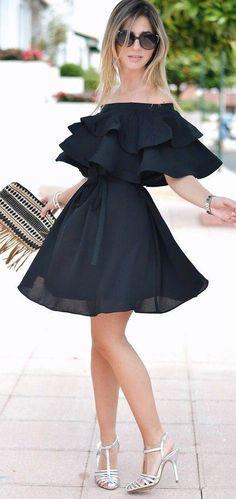 #summer #trending #fashion |Off The Shoulder LBD