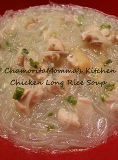 Chicken Long Rice Soup, Chamorro Style