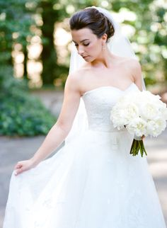 Forest Wedding, Dream Wedding, Wedding Day, White Peonies Bouquet, Peony, Wedding Hair And Makeup, Woman Painting, Here Comes The Bride, Bride Hairstyles