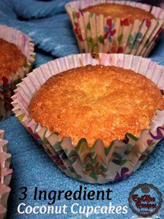 Sweet Soup, Coconut Cupcakes, Dessert Recipes, Desserts, Custard, 3 Ingredients, Cupcake Cakes, Tart, Biscuits