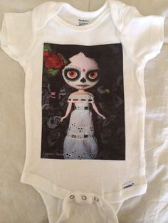 BLYTHE DOLL Printed Baby BODYSUITS...Super Cute and by 3WittlePigs, $12.00