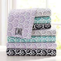Florette Sheet Set #pbteen brooke's room - gray sheets
