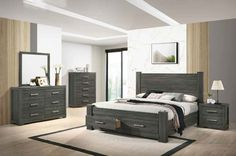 5 pc House of hampton smedley lisa gray finish wood queen bed set. This set includes the Queen bed , Nightstand, Dresser, Mirror and Chest. Bed measures x x H. Nightstand measures x x H. Queen Bedding Sets, Queen Beds, Bedroom Sets, The Hamptons, Nightstand, Lisa, It Is Finished, Gray, Wood