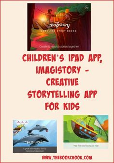 The Book Chook: Children's iPad App, Imagistory - Creative Storytelling App for Kids - just like a digital wordless picture book, kids record themselves making up a story about sequential images.