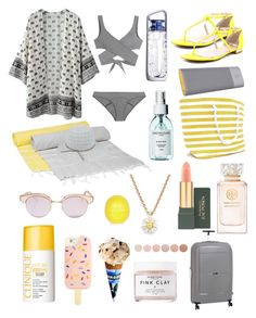 """""""Summer"""" by oliviaa-maay on Polyvore featuring Hammamas, Vince Camuto, HP, It Luggage, Lisa Marie Fernandez, Herbivore, Clinique, Kate Spade, Le Specs and Tory Burch"""