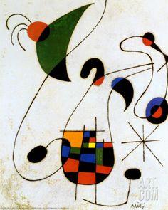 The Melancholic Singer Art Print by Joan Miró at Art.com