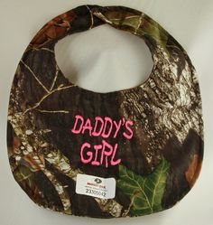 browning baby girl stuff | Camo Baby Bib DADDY's GIRL | Just Camo