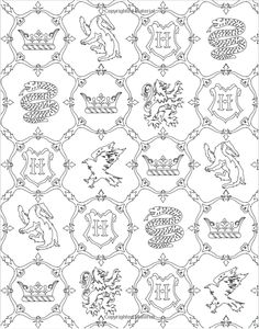 Harry Potter Colouring End Paper