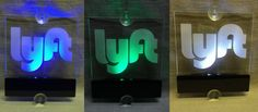 CAR LED sign rideshare LED sign with no cord by by AcryLEDdesigns