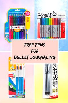 We're giving away free pens for bullet journaling! Pens For Bullet Journaling, Bullet Journal Inspiration, Bullet Journals, Journal Ideas, Journal Prompts, School Supplies, Craft Supplies, Notes Taking, Planning School
