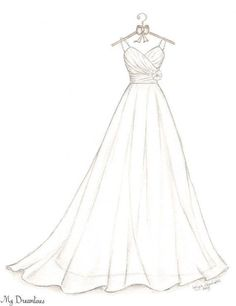 Wedding Dress Sketch Bridal Shower Gift Wedding by Dreamlines Bridesmaids gif.Wedding Dress Sketch Bridal Shower Gift Wedding by Dreamlines Bridesmaids gifts can serve as friendship gifts for# Bridal Dress Design Drawing, Dress Design Sketches, Fashion Design Drawings, Fashion Sketches, Dress Designs, Fashion Design Sketchbook, Clothing Sketches, Bride Gifts From Maid Of Honour, Bridal Shower Gifts For Bride