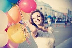 happy girl with balloons - Google Search