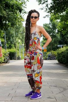 fashion, street style, black girl, box braids, sneakers, nike, inspiration