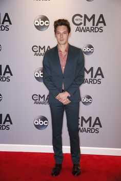 Sam Palladio (from ABC's Nashville) walks the red carpet at The Annual CMA Awards, live Wednesday, Nov. American Country Music Awards, Academy Of Country Music, Country Singers, Sam Palladio, Cma Awards, Walks, Nashville, Wednesday, Red Carpet