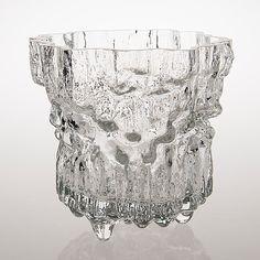 """TAPIO WIRKKALA - Glass vase """"Miracus"""" 3432 for Iittala 1970's, Finland.   [h. 23,5  cm]"""