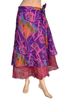 Boho Gypsy Wrap Around Skirt Sarong Long Indian « Dress Adds Everyday