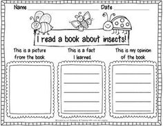 Let's Label, Write, and Draw About...Insects - Lori Rosenberg - TeachersPayTeachers.com