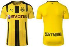 maillot de foot pas cher 2018: Maillot de foot Dortmund 2016-2017