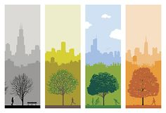 I absolutely love these prints of the four seasons in chicago by Ryan Kapp.