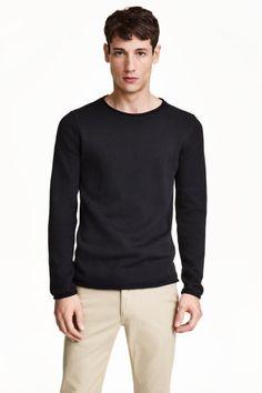 Fine-knit cotton jumper