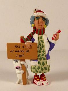 Hallmark Maxine Ornament NIB This is as Merry as I get Floyd Price Tab 1996 #Hallmark #MaxineChristmasornament