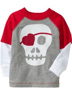 Old Navy | 2-in-1 Skull Graphic Valentine's Tees for Baby