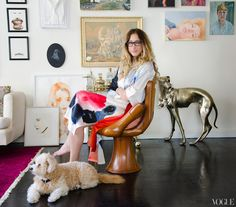 Kyle DeWoody in her Greenwich apartment.