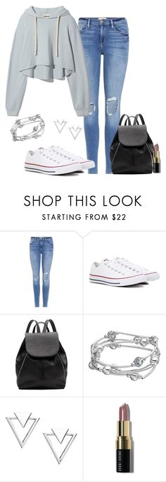 """Street style"" by cris-1121 ❤ liked on Polyvore featuring Frame, Converse, Witchery, Nadri and Bobbi Brown Cosmetics"